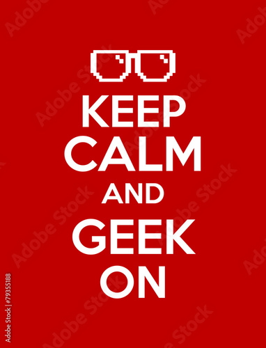 Photo keep calm geek red