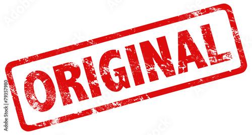 Fotografia  Stempel Grunge rot Original