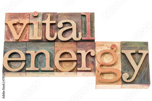 Obraz vital energy typography - fototapety do salonu