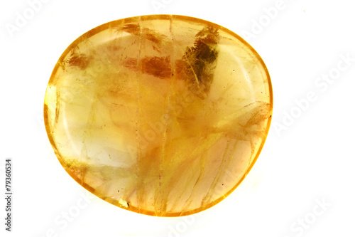 Canvas Print yellow amber mineral