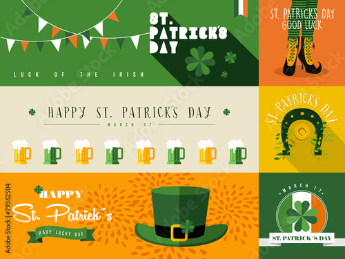 Fotografia Happy St Patricks day banner illustration