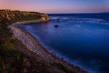 View Of Pelican Cove At Twilight, In Ranchos Palos Verdes, Calif