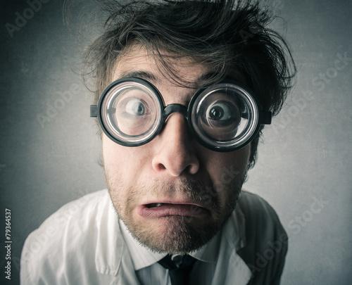 Shocked scientist Fototapete