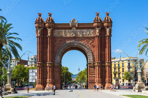 Triumph Arch in Barcelona, Spain Canvas Print