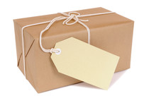 Small Brown Package With Label