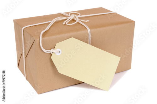 Fotografie, Obraz  Small brown package with label