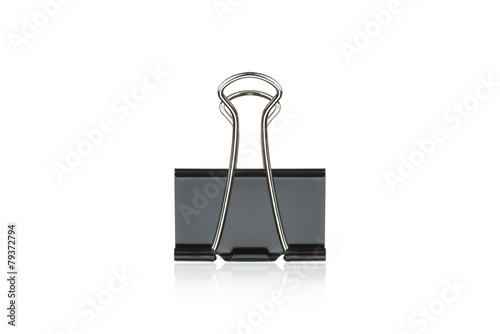 Photo  Clip black for document or paper clip attachment