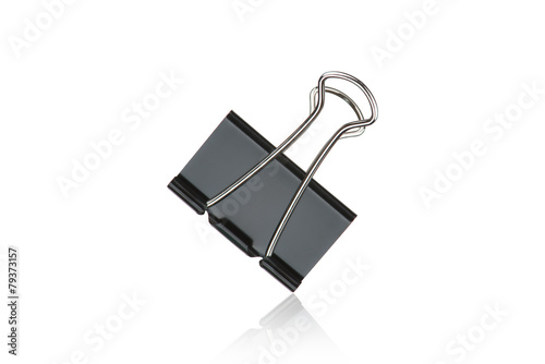 Cuadros en Lienzo Clip black for document or paper clip attachment