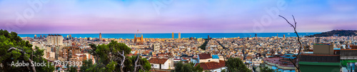 Fototapety, obrazy: Panoramic view of Barcelona
