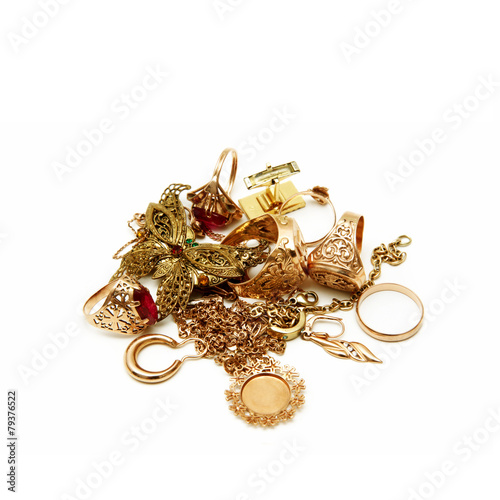 Foto  Kostbarer Schmuck aus Gold