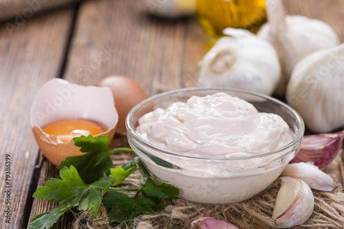 Garlic Dip (Aioli) Canvas Print