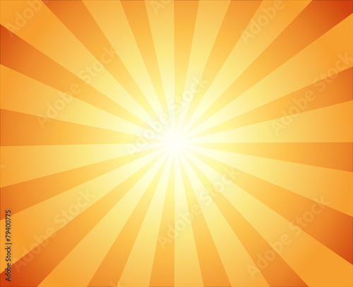 Beautiful Sun with Rays Television Vintage Background Wallpaper Mural