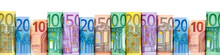 Euro Geldscheine Als Hintergrund