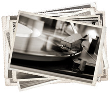 Black And White Photos, Vintage Photo Old Gramophone