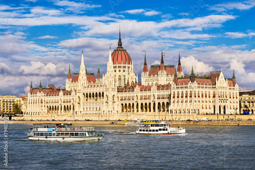 Photo  Parliament building in Budapest, Hungary