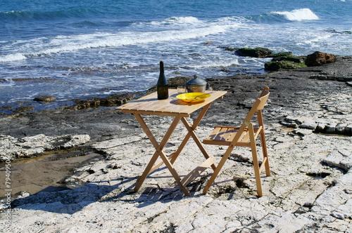 Fotografie, Obraz  Picnic in riva al mare