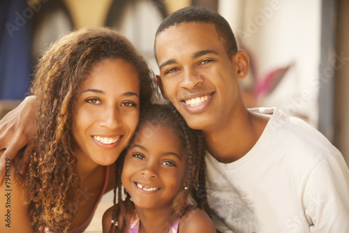 Fotografie, Tablou  Happy African American Family