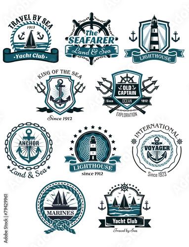 Fotografía  Marine emblems and banners
