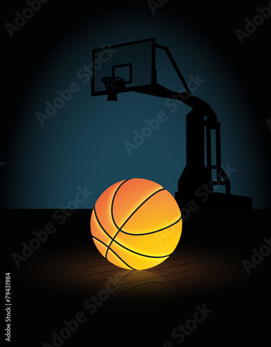 Fotografiet  glowing basketball