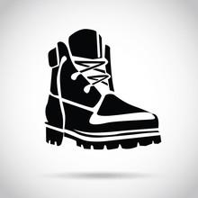 Black Boot Icon