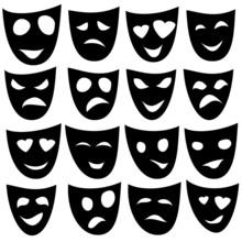 Black Mask Different Emotions....