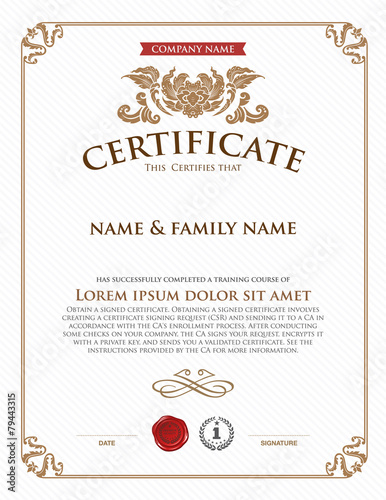 Fototapeta  certificate template.
