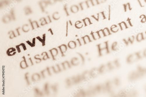 Valokuvatapetti Dictionary definition of word envy