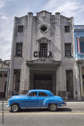 Türaufkleber Autos aus Kuba Classic american car in Havana, Cuba