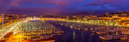 Canvas Prints Ship View of the Vieux port (Old Port) in Marseille, France