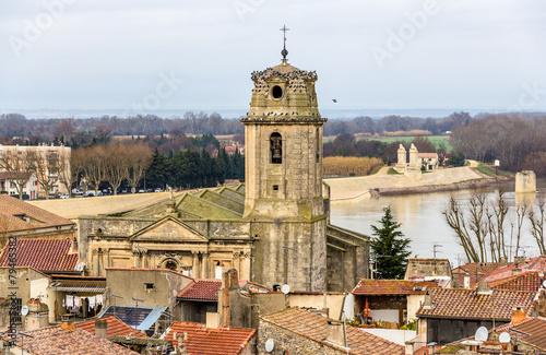 Foto op Plexiglas Artistiek mon. View of the Saint Julien church in Arles - France
