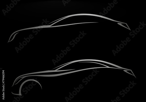 Siyah Arka Fon üzerinde 2 Otomobil Logosu Buy This Stock Vector