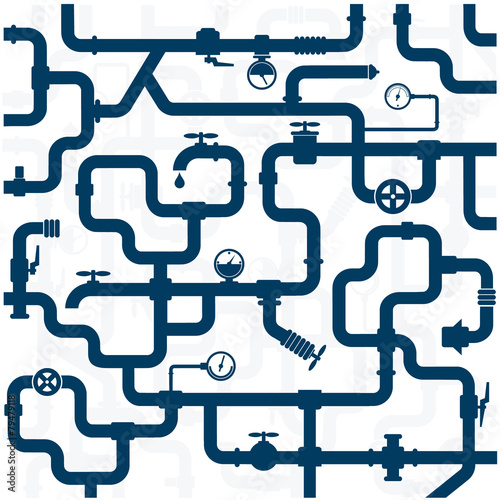 Fotografia  Pipeline plumbing