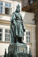 Charles IV Statue In Prague
