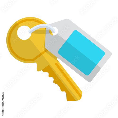 Cuadros en Lienzo Icono llave con etiqueta