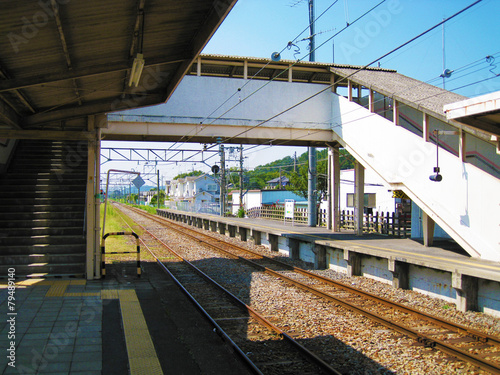 Tuinposter Stadion 無人駅