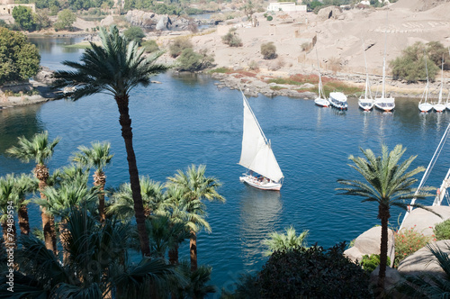 Tuinposter Egypte Felucca on River Nile