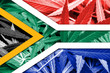 canvas print picture - South Africa Flag on cannabis background. Drug policy.