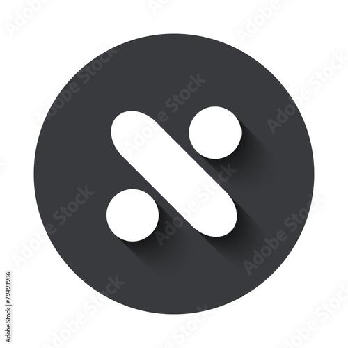 Photo  Vector modern  gray circle icon