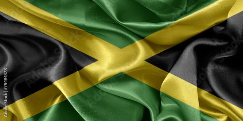 Jamaica satin flag Canvas Print