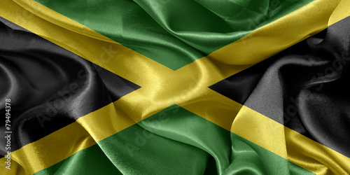 Fotografie, Obraz Jamaica satin flag