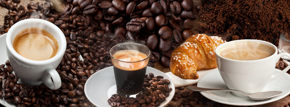 Coffee Banner Collage
