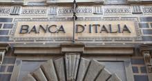 Bank Of Italy Facade In Arezzo, Italy
