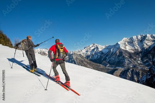 Aluminium Prints Mountaineering Randonnee ski trails