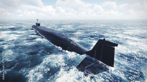 Photo Russian Borei class submarine at the northern water 2