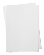Two Paper Sheets Isolated On W...