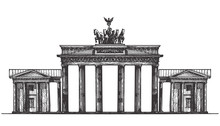 Germany Vector Logo Design Template. Monument Or Architecture
