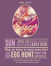 Purple Easter Egg Hunt Flyer T...