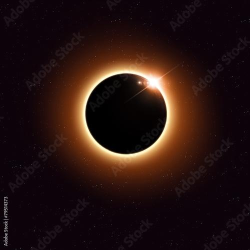 obraz PCV Zaćmienie Słońca