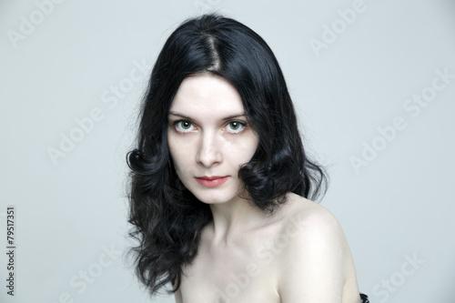 Foto op Plexiglas womenART Beauty close-up portrait of lovely sensual Caucasian woman model