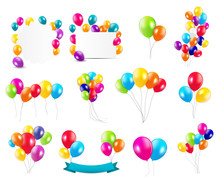Color Glossy Balloons  Mega Se...